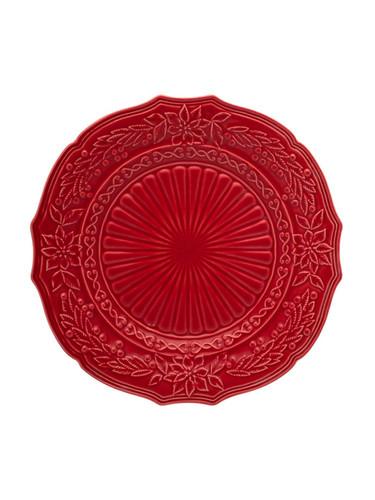 Bordallo Pinheiro Christmas  Red Charger Plate MPN: 65002066 EAN: 5600876072115