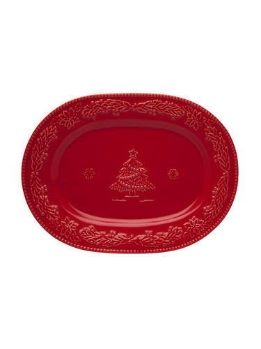 Bordallo Pinheiro Christmas  Red Platter MPN: 65002181 EAN: 5600876072085