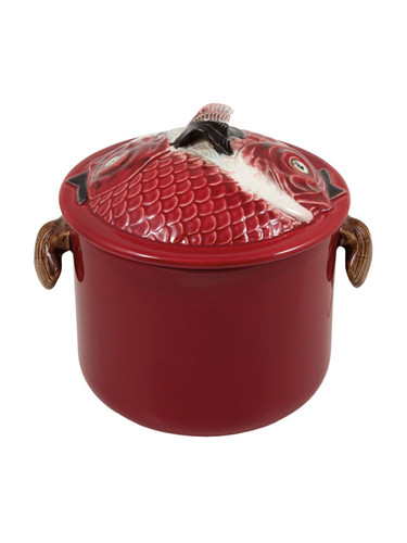 Bordallo Pinheiro Fish Decorated Red Tall Tureen L MPN: 65011625 EAN: 5600876078810