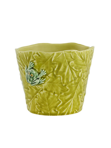 Bordallo Pinheiro Garden of Insects Vase with Frog Decorated 65019400