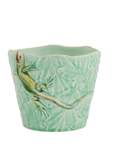 Bordallo Pinheiro Garden of Insects Vase with Lizard Decorated 65019404