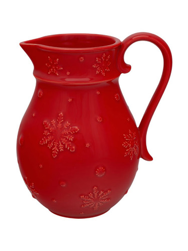 Bordallo Pinheiro Snow Flakes Red Pitcher MPN: 65012700 EAN: 5600876071903