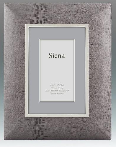 Tizo Classic Wide 5 x 7 Inch Silver Plated Picture Frame - HomeBello