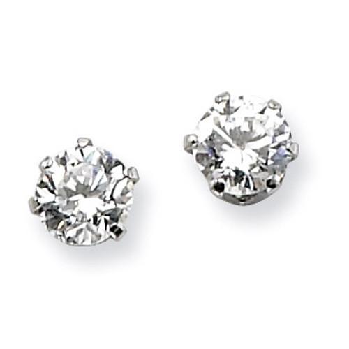4mm Synthetic Diamond Stud Earrings - Stainless Steel SRE315