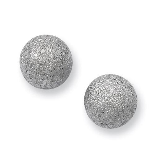Laser Cut 8mm Bead Post Earrings - Stainless Steel SRE448