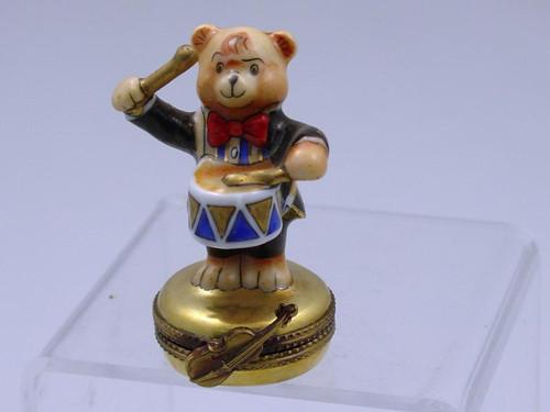 Chamart Bear Orchestra Drummer Limoges Box 2000\082DR