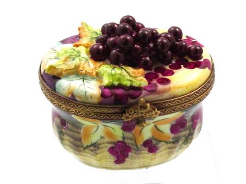 Chamart Basket Grape Leaves Limoges Box AC05-006