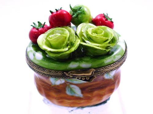 Chamart Basket Lettuce Tomato Limoges Box AC05-012