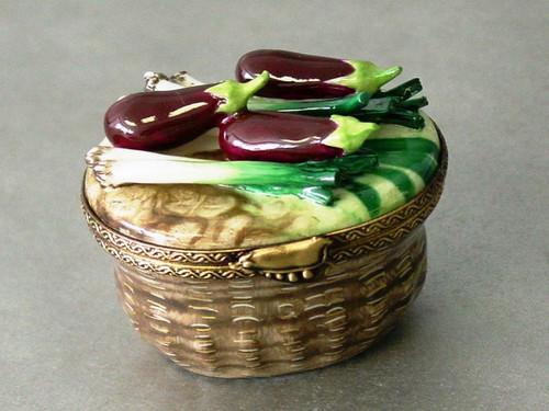Chamart Basket Eggplant Leek Limoges Box AC05-018