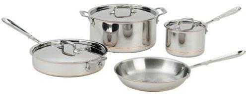 All Clad Copper Core 7 Piece Cookware Set