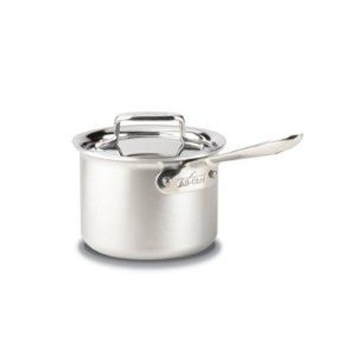 All Clad d5 Brushed Stainless 2 Qt. Sauce Pan with Lid