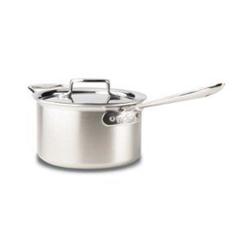 All Clad d5 Brushed Stainless 4 Qt. Sauce Pan with Lid