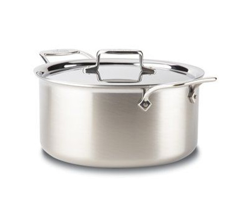 All Clad d5 Brushed Stainless 8 Qt. Stockpot with Lid