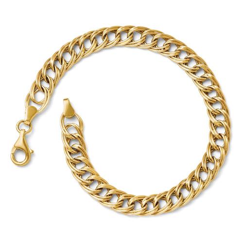 Facny Link Bracelet 7 Inch - 14k Gold 4059-7