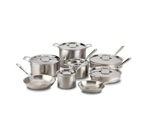 All Clad d5 Brushed Stainless 14 Piece Cookware Set