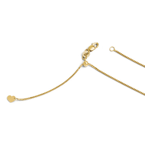 Adjustable Box Chain 22 Inch - 10k Gold 5190-22