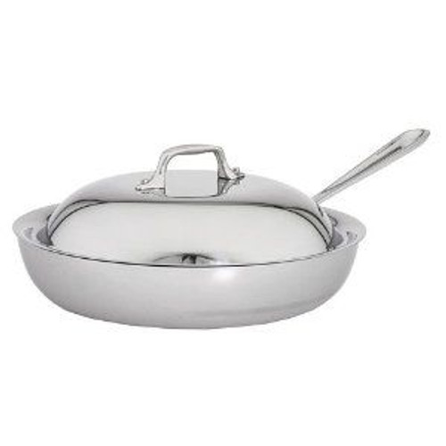 All Clad Stainless 11 Inch French Skillet with Lid