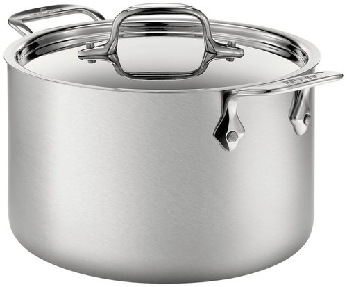 All Clad d5 Brushed Stainless 5-Ply 4 Qt. Soup Pot with Lid