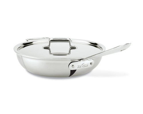 All Clad d5 Brushed Stainless 5-Ply 4 Qt Weeknight Pan