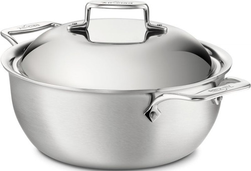 All Clad d5 Brushed Stainless 5-Ply 5.5 Qt Dutch Oven with Lid
