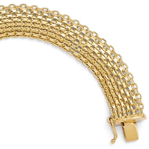 Polished Bracelet 8 Inch - 14k Gold LF331-8