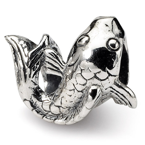 Fish Bead - Sterling Silver QRS1092