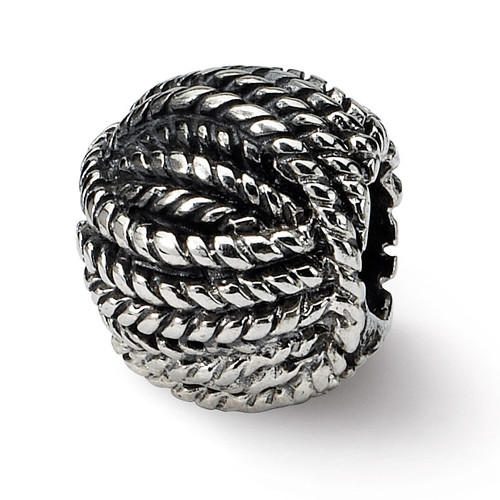 Ball of Yarn Bead - Sterling Silver QRS1434