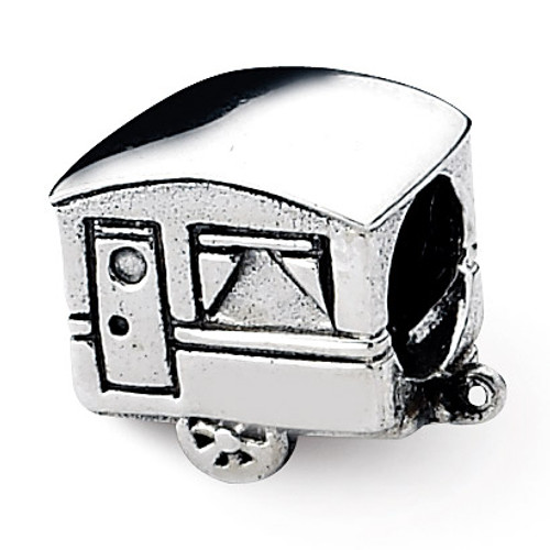 Camper Trailer Bead - Sterling Silver QRS1902