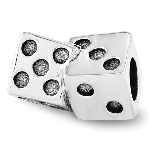 Dice Bead - Sterling Silver QRS3550