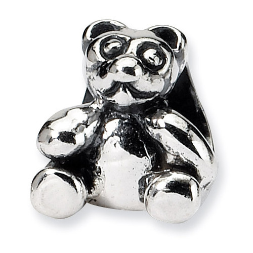 Bear Bead - Sterling Silver QRS727