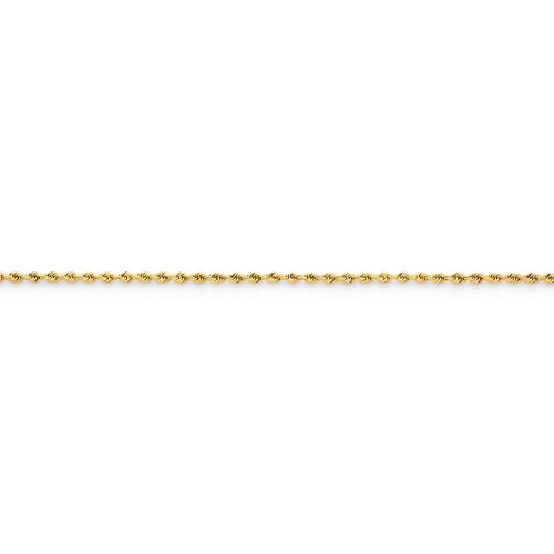 1.50mm Diamond Cut Rope Anklet 10 Inch 14k Gold 012L-10