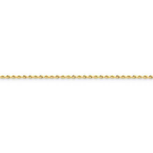 1.75mm Diamond-cut Rope Anklet 10 Inch 14k Gold 014L-10