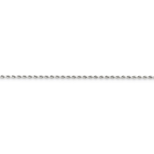 1.8mm Diamond Cut Rope Anklet 10 Inch 14k White Gold 014W-10