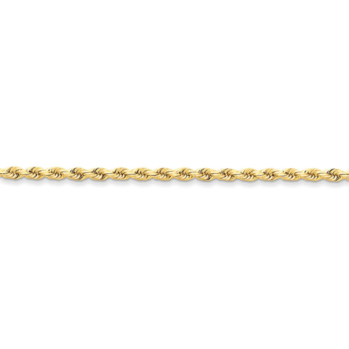 3.20mm Diamond-cut Rope with Lobster Clasp Chain 20 Inch 14k Gold 023L-20