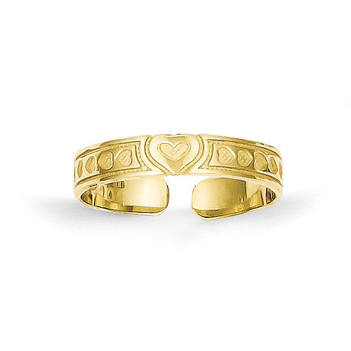 Heart Toe Ring 10k Gold 10C1158