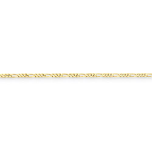 2.2mm Figaro LINK Chain 16 Inch 10k Gold 10FG065-16