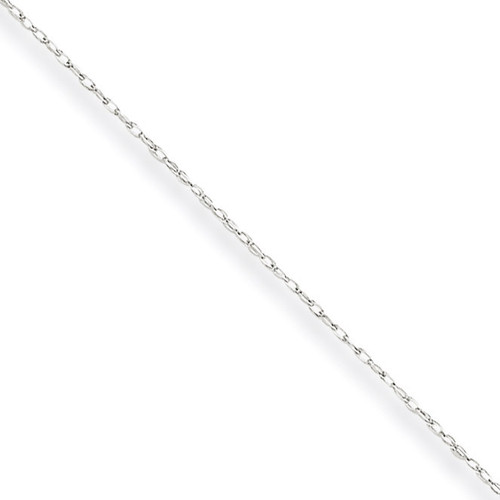 Carded Cable Rope Chain 16 Inch 10k White Gold 10K5RW-16