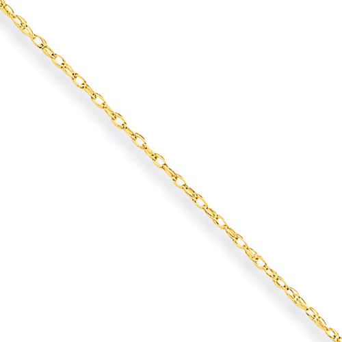 Carded Cable Rope Chain 18 Inch 10k Gold 10K7RY-18