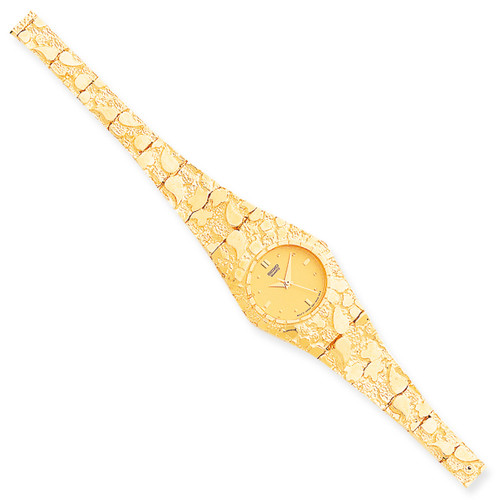 Champagne 22mm Dial Nugget Watch 10k Gold 10N260Y-7