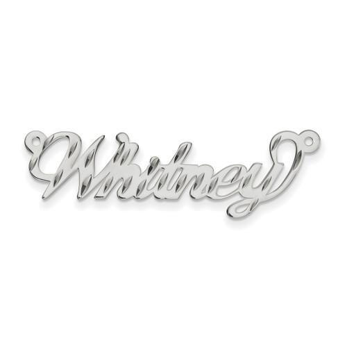 0.013 Gauge Polished Diamond-cut Nameplate 10k White Gold 10XNA162W