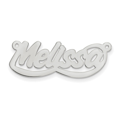 0.013 Gauge Polished Nameplate 10k White Gold 10XNA76W