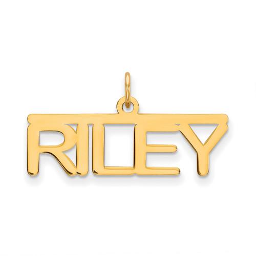 0.013 Gauge Polished Nameplate 10k Gold 10XNA79Y
