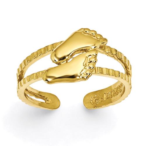 Feet Toe Ring 14k Gold C2069