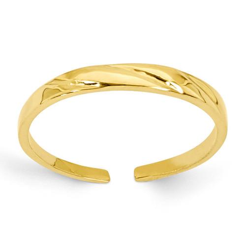 Fancy Toe Ring 14k Gold C2096
