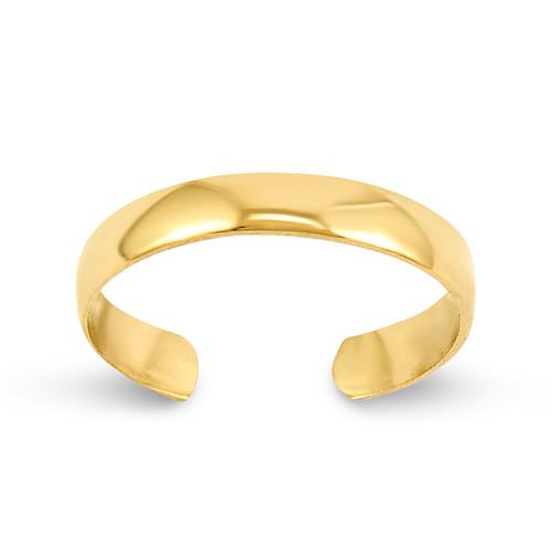 High Polished Toe Ring 14k Gold C2098