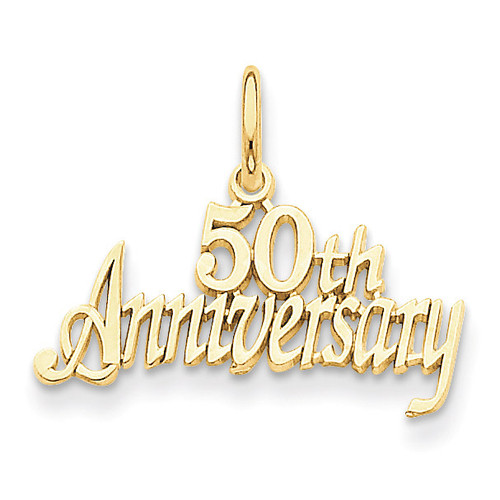 50th Anniversary Charm 14k Gold C288