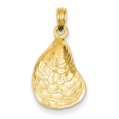 Oyster Shell Pendant 14k Gold C3384