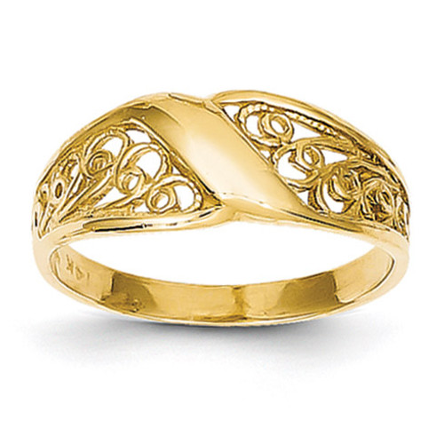 Filigree Ring 14k Gold Polished CH264