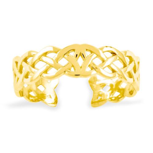 Celtic Knot Toe Ring 14k Gold D1939