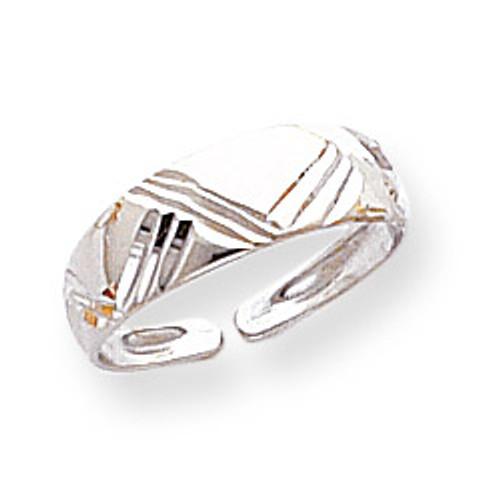 Fancy Toe Ring 14k White Gold D1947